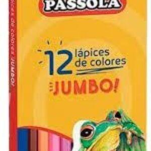 LAPICES DE COLORES JUMBO TRIANGULAR PASSOLA